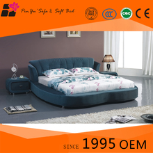 Modern comfortable cheap round bed, folding beds for solid wood furniture design