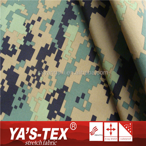 China Supplier Waterproof Polyester Camouflage Printing Wholesale Softshell Fabric For Military Tent