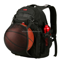 Alibaba new arrival convenient basketball backpack with mesh ball pocket
