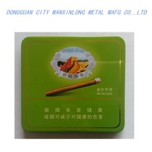 Premium rectangle metal cigarette tin box