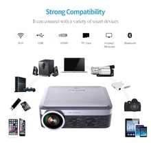 FULL HD LED LCD Android Wifi Video Bluetooth Airplay Miracast Wireless Smart Home Theater Projector