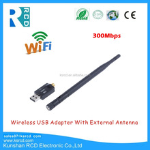 300Mbps Wireless USB 2.0 WiFi Adapter With External Antenna wireless network card