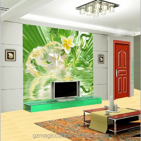 korean style vinyl golden flower wallpaper for bedroom