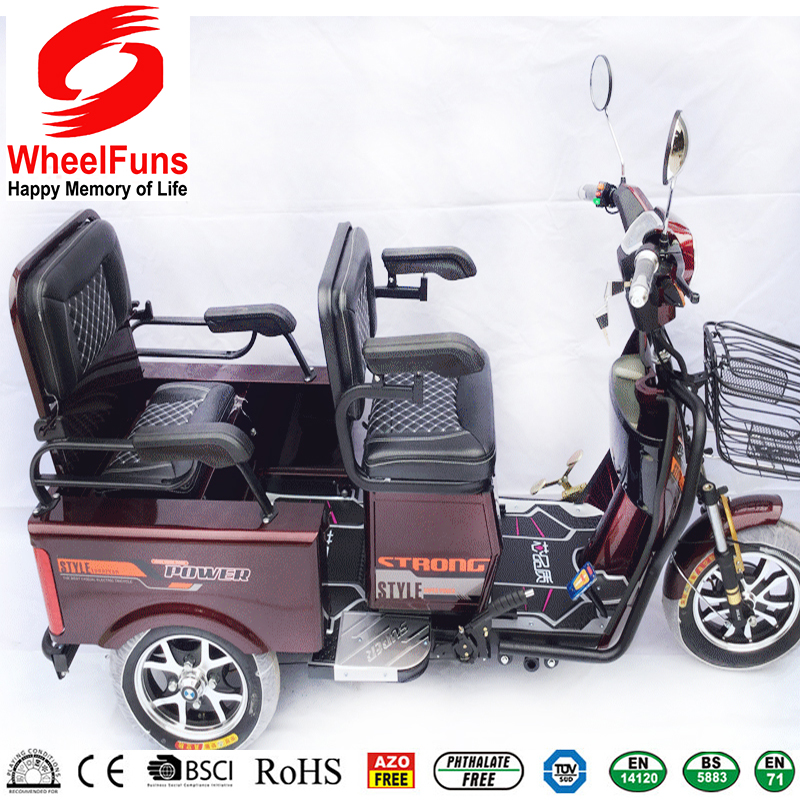 new design electric tricycle passenger double usage for passengers or electric cargo electrical bike for elder people