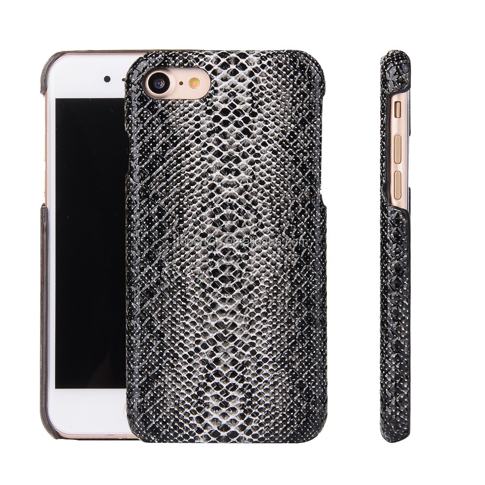 Snake leather texture ultra thin back cover case for apple iphone 7 plus, for iphone 7+ case