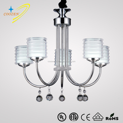 GZ30008-5P zhong shan indoor modern white chrome royal LED pendant lamp