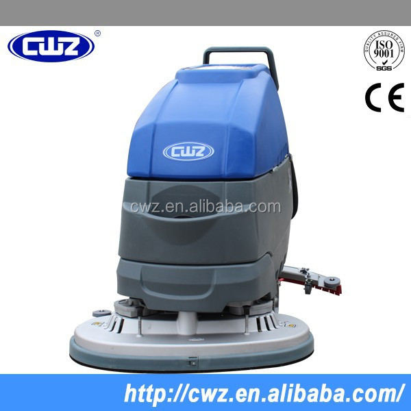 Electric Hand Push Floor Sweeper Scrubber For Industrial And Commercial Use