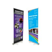 Custom graphic printing aluminumalloy retractable banner stand roll up banner