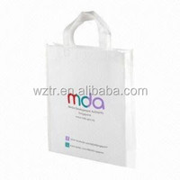 simple cheap laminated tote bag for shopping/promotion