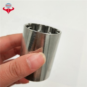 2 6 8 inch 304 316L 316 stainless steel Johnson pipe wedge v wire screen deep water well screen