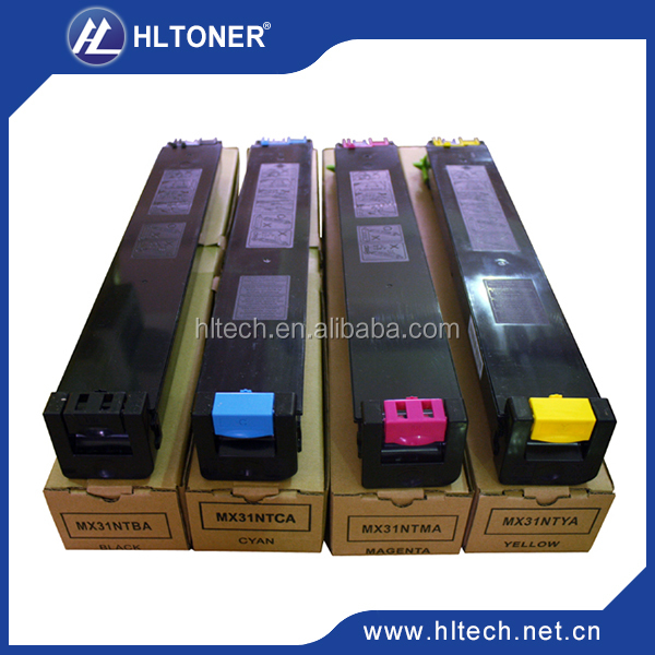 Color toner cartridge MX31 compatible for Sharp MX2600N/3100N