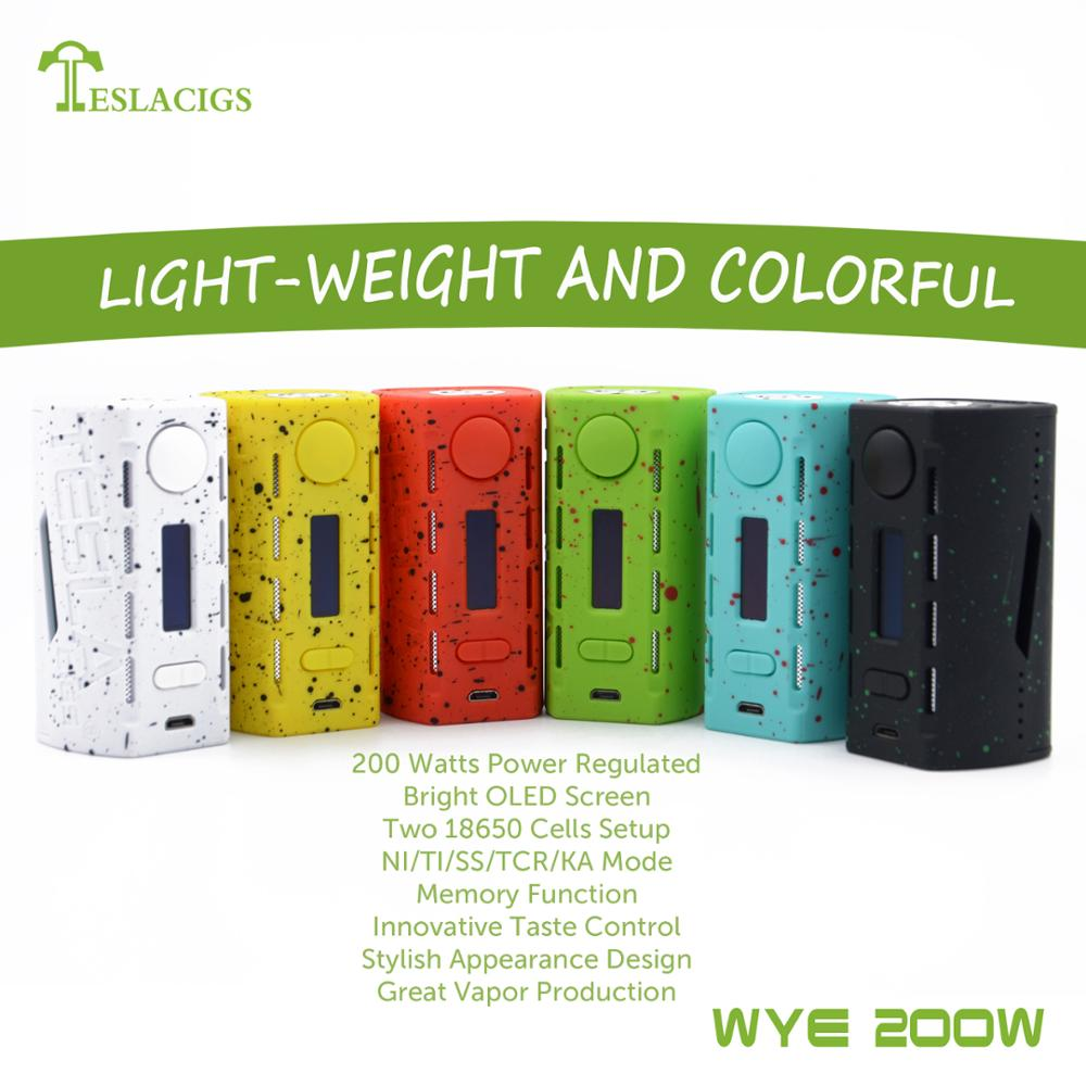 Tesla the newest vape mod WYE 200w With ABS+PC material hot selling now!