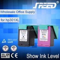 Factory price genuine quality ink cartridge for hp 301(for ch564ee)