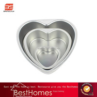 BS-8 Inch Anode Alufer Baking Utensils Live Bottom Love Cake Mold Egg Tart Piping Pastry Bread Mould Tools