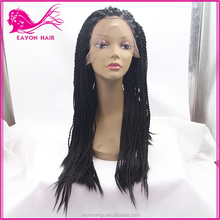 hot sale synthetic hair wig african american synthetic braided lace wig twisted weave african braid wig