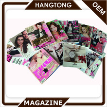 High Quality Full Color Magazine Design Printing Glue Binding Magazine Wholesale in Guangzhou
