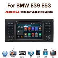 2016 Latest android car stereo for BMW E39 Android 5.1 E53 X5 with Wifi 3G GPS Bluetooth Radio RDS CANBUS Steering wheel control