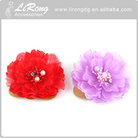 Wholesale silk head band flowers