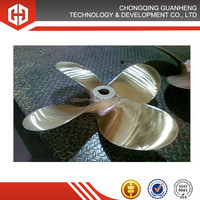 stainless steel fixed pitch marine 4 bladed propellers