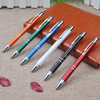 Promotional aluminum customized click pen with company logo