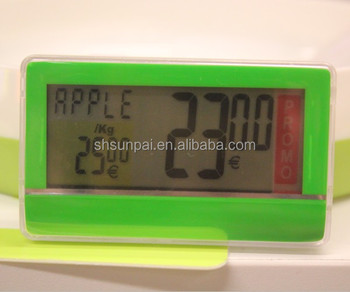 Sunpai RFID digital LCD electronic shelf label price tag ESL