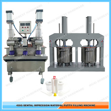 Automatic Filling Machine For Polysilicone Dental Impression Material In 400g Plastic Jar