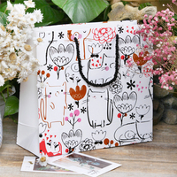 Free design custom cartoon gift paper tote packaging bag