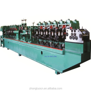 Automatic Galvanized Steel Pipe Production Line / Welded Tube Making Machinery
