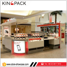Modern mobile accessories kiosks design for phone store in shopping mall