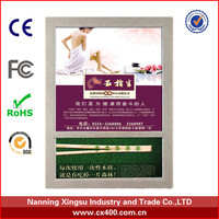 stick or wall mounted poster frames toilet advertising