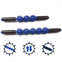 Yoga massager/Muscle Trigger Point Therapy/5 Spiky Balls Massage Roller Stick
