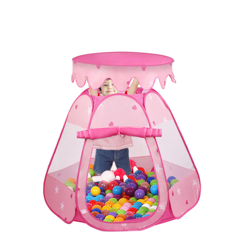 Children Game Play Toys Tent Pink Princess Tent Indoor and Outdoor 1-8 Years Old Tents