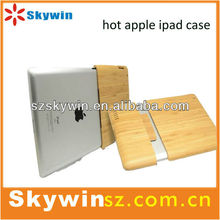 Hot new case bamboo case for apple ipad shell back cover