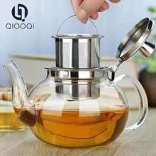 800ml Glass Tea Pots/ Teapots with Stainless Steel Infuser on Sale