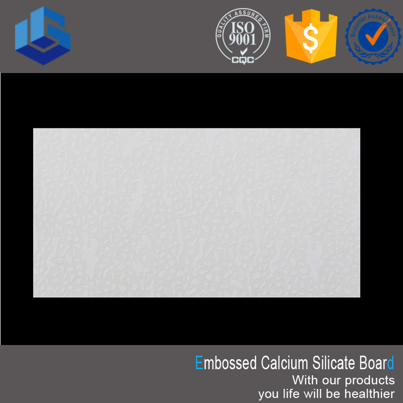 Embossed Eco-friendly Wall Cladding Fiber Cement Cladding Calcium Silicate Ceiling Board