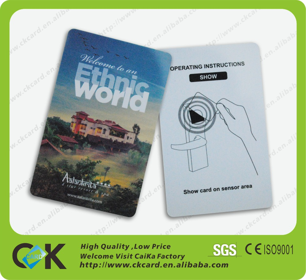 Custom rfid hotel key card with onity lock system