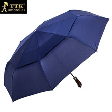 double layer men outdoor business folding waterproof corporation TTK windproof sun rain automatic umbrella parasol
