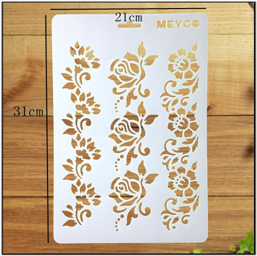 Craft Drawing Template Flower Drawing Stencil