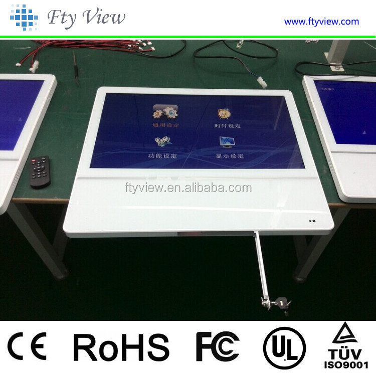 21.5 inch digital touchscreen AD lcd display,USB card wall mounted touch screen kiosk,table design touch