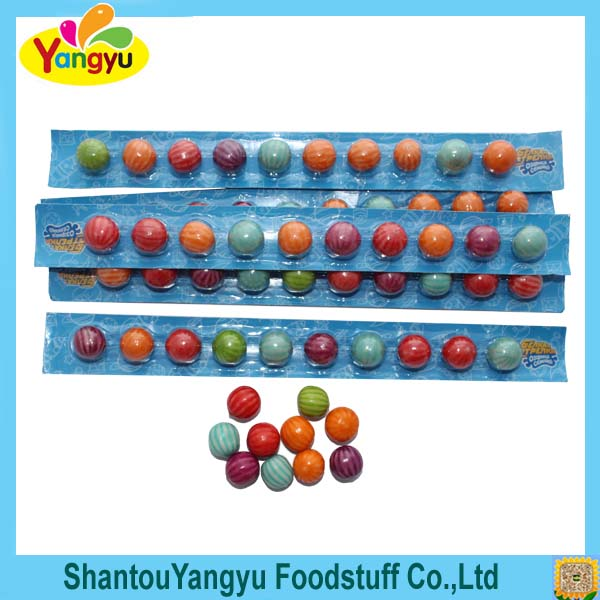 ruler bubble gum with mix fruity flavor