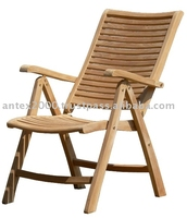 Teak Reclining Chair, Arm Chair With 5 Positions