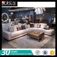 European style new model sofa sets pictures , velvet fabric for sofa sets G180