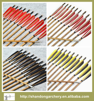 Archery three vanes bamboo arrow shafts for traditional bow arrow