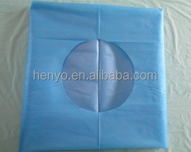 CE FDA ISO CHIAN Disposible Blue Operation Towel With Hole dental surgical drapes surgical towel