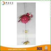 Red Decorative Garden Metal Flamingo Wind Chime Wholesale