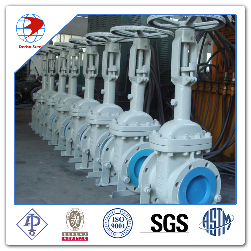 Class 150 Flanged Hand Wheel Carbon Steel A216 WCC Gate Valve