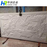 Wall Relief Sculpture, Relief Wall Art with Natural White Limestone