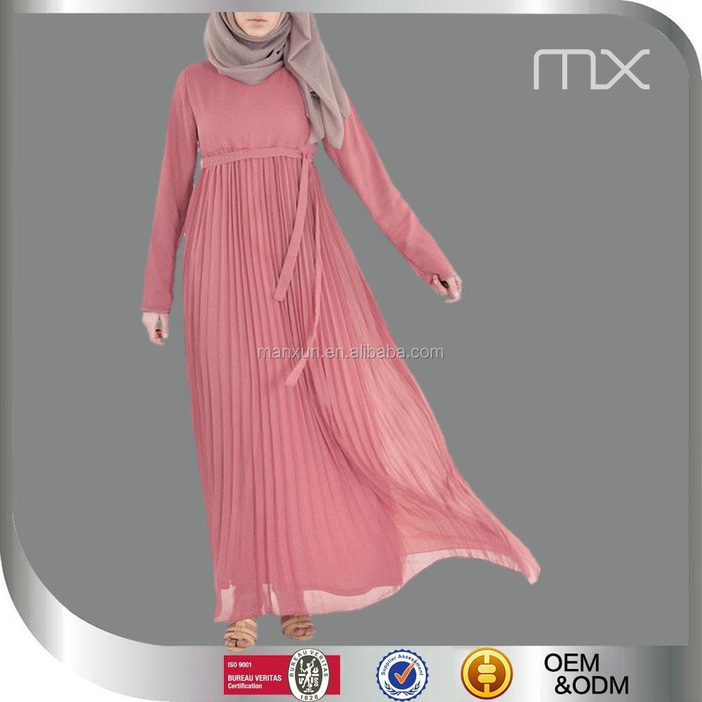2016 hot selling thai women dress clothing pink kebaya muslim dress