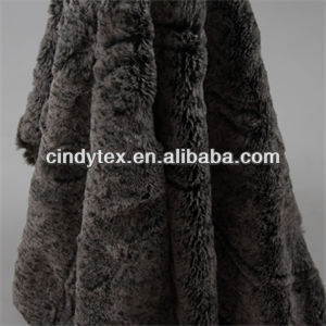 12mm 2-tone dark grey plushed short hair 100% polyester sherpa articifical fur fabric