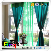 silk taffeta curtain wedding lighted curtain bright color sheer curtain